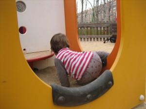 Bebé en el parque